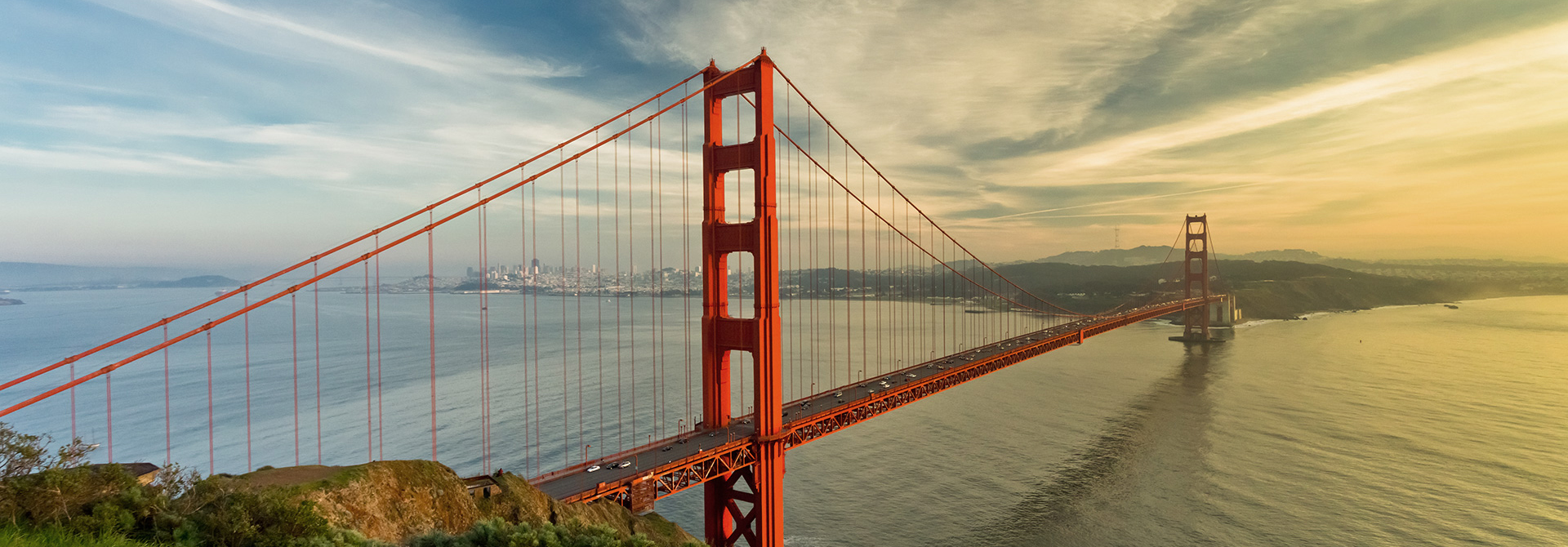 Golden gate Bridge von San Francisco